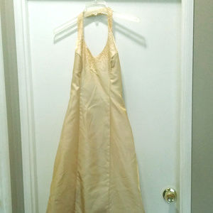 Gold prom dress Size 4